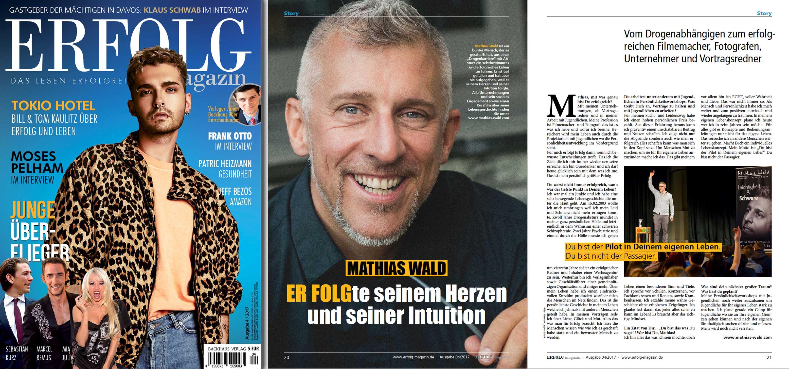 Mathias Wald im Erflog Magazin