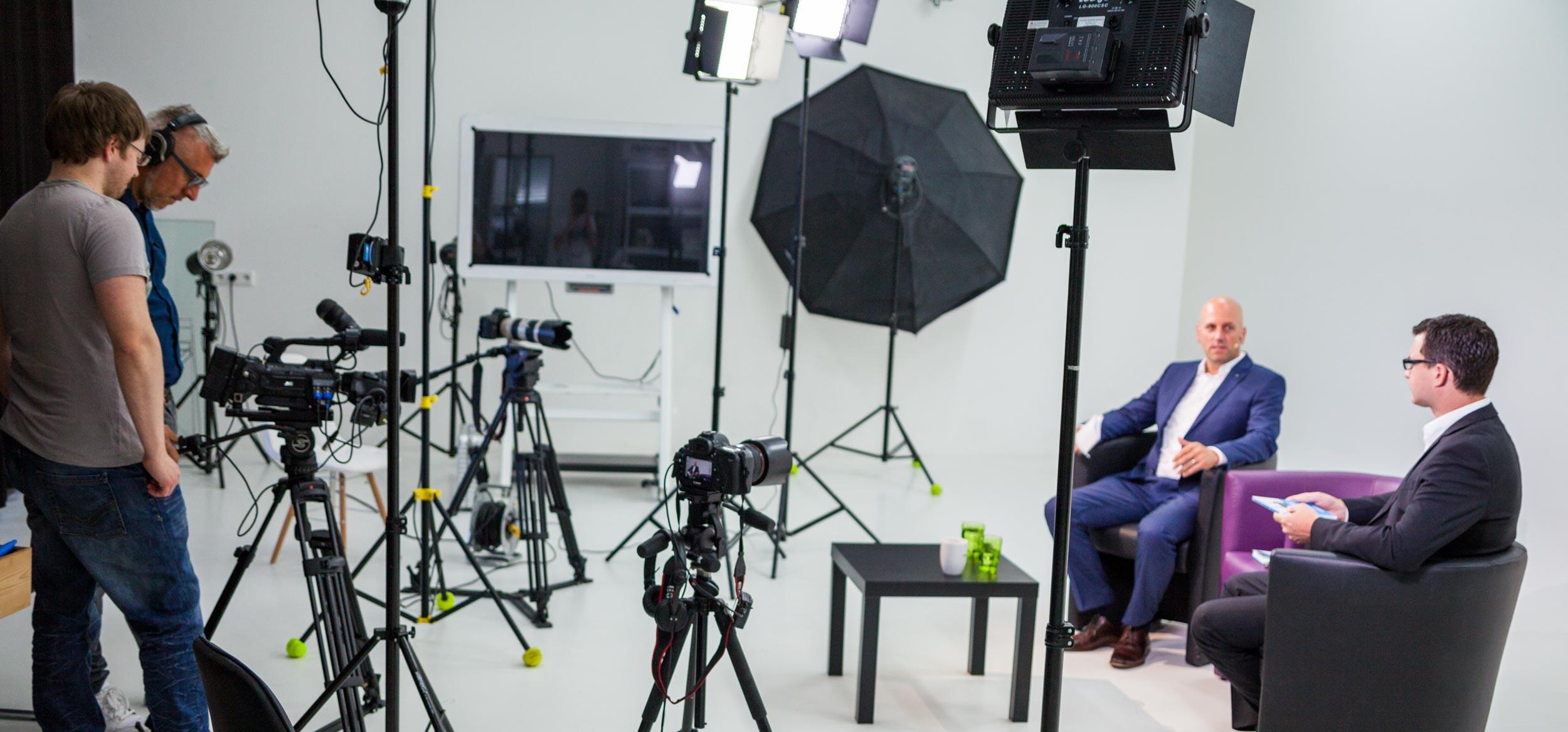 Making Off Foto eines Interviews